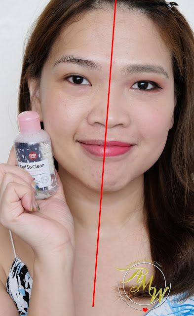 a photo of Cathy Doll Oh! So Clean 2 in 1 Makeup Cleansing Micellar Essence Review by Nikki Tiu of www.askmewhats.com