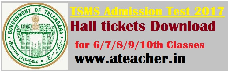 TSMS Model School Hall Tickets 2017