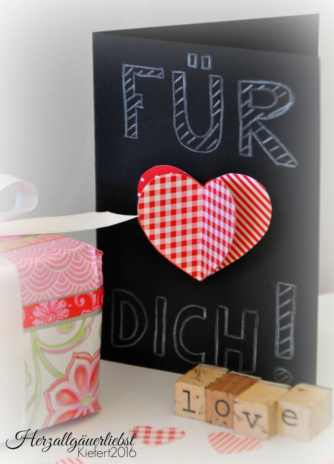 herzallg uerliebst am ist valentinstag basteltipp. Black Bedroom Furniture Sets. Home Design Ideas