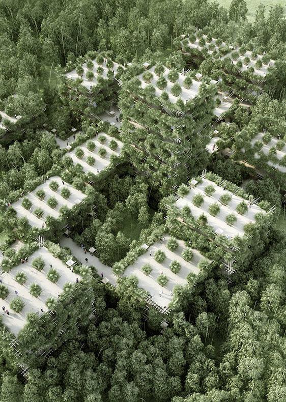 La futurista Ciudad de Bambúes