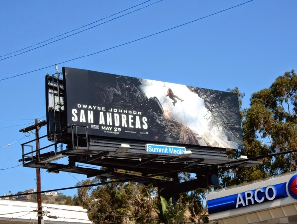 San Andreas film billboard