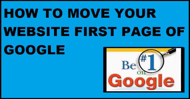Move your blog first page of google