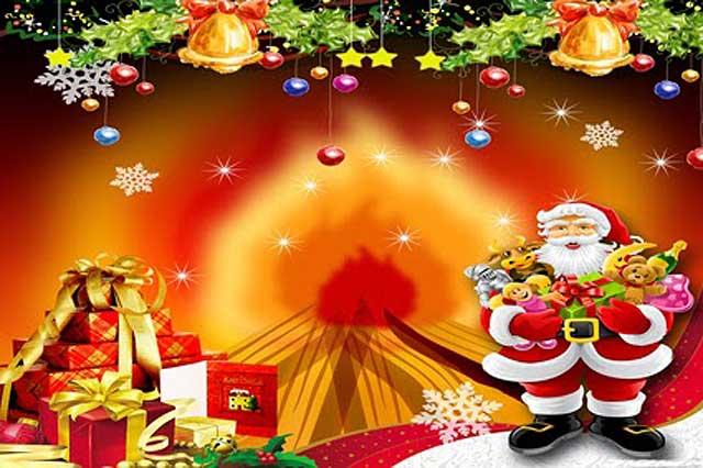 Painel tema de Natal - Decoração de aniversário - Lugh Festas