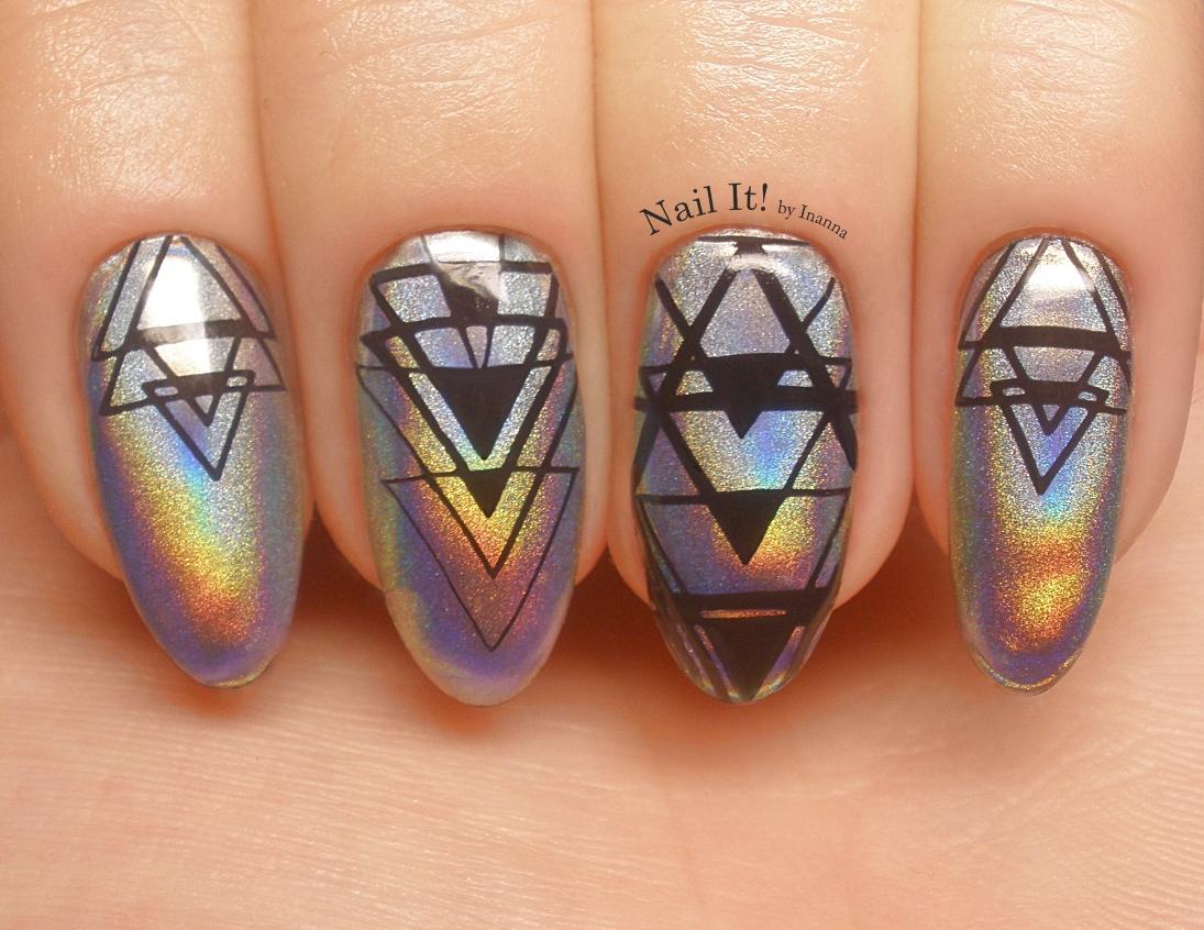 """Hello New Year! Or maybe I should say """"Holo""""? (Indigo Nails """"Holo Manix"""" nail art)"""