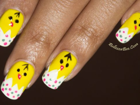 Baby Chick Nail Tutorial