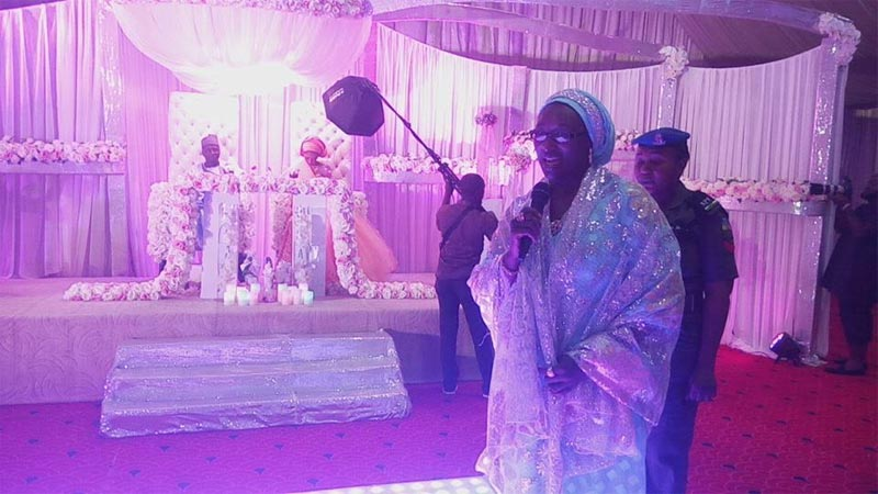 Photos: Ex-Sokoto governor Attahiru Bafarawa's son Buhari gets married to sweetheart Khadijah