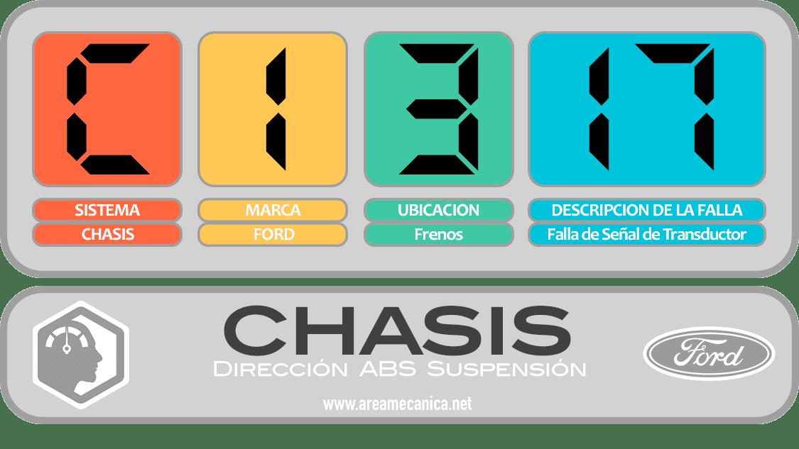 CODIGOS DE FALLA: Ford (C1300-C13FF) Chasis | OBD2 | DTC