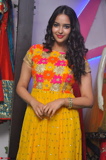 Pujitha in Yellow Ethnic Salawr Suit Stunning Beauty Darshakudu Movie actress Pujitha at a saree store Launch ~ Celebrities Galleries