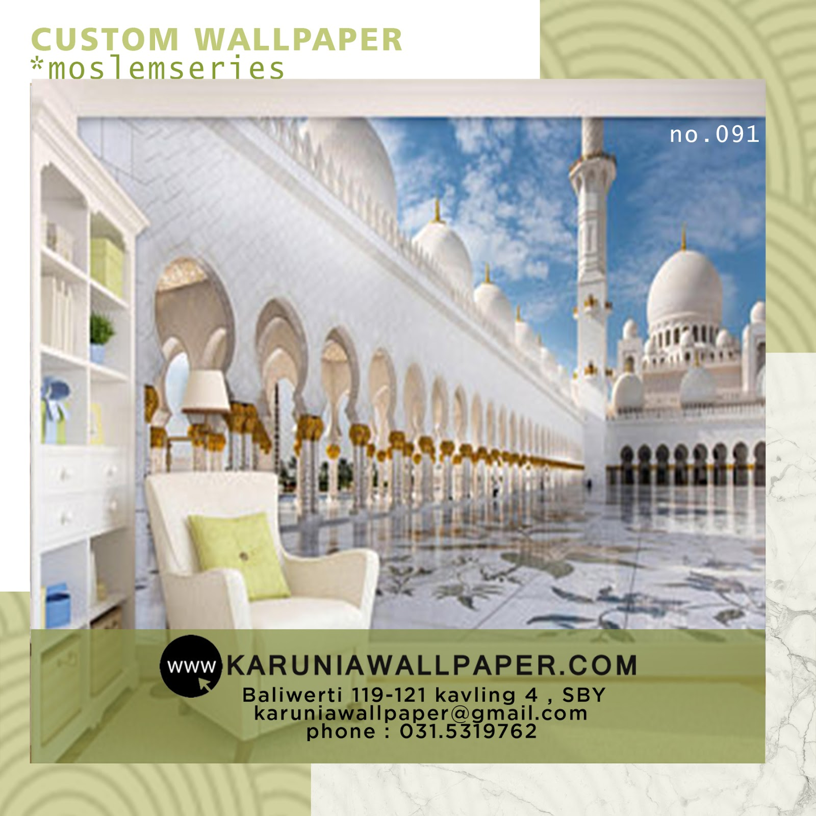 jual wallpaper custom arab religius islam