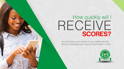 How quickly will I RECEIVE MY JAMB SCORES?