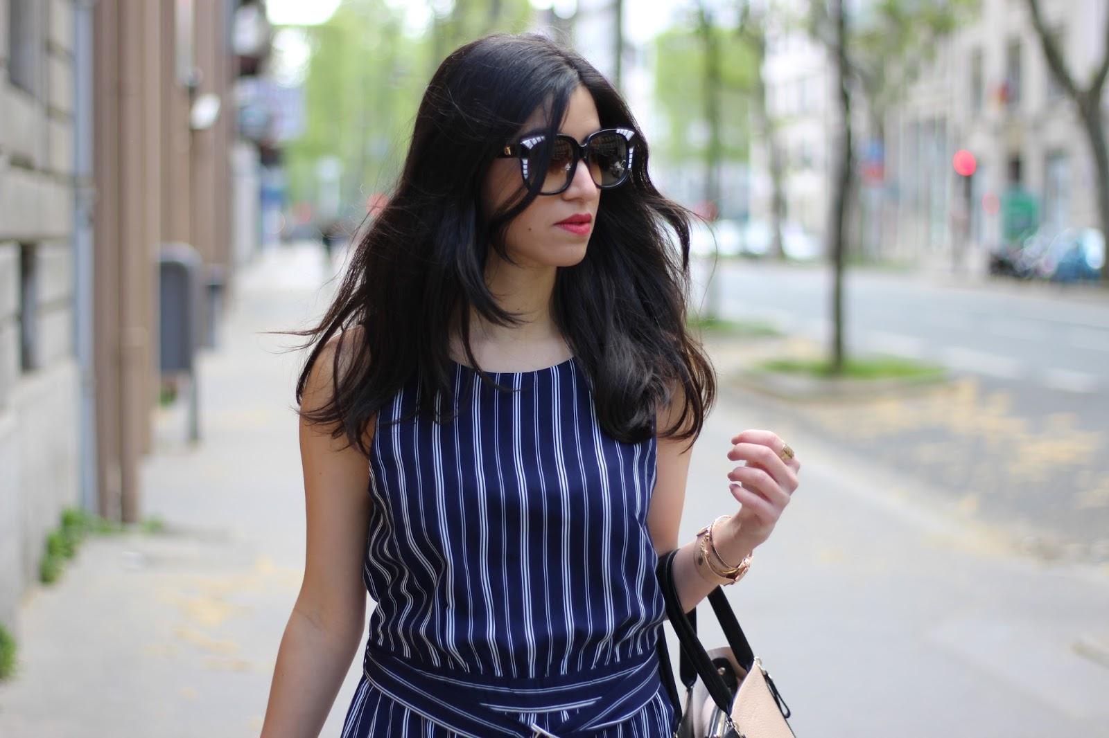 blog mode, blog mode lyon, blog mode lyon paris, blog mode paris, newlook, discoverss16, blogueuse mode, blogueuse lyonnaise, combinaison rayée, montre les partisanes