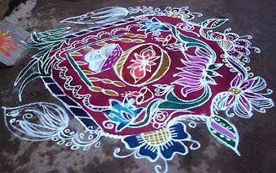 cow rangoli designs