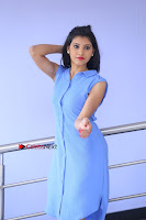 Telugu Actress Mounika UHD Stills in Blue Short Dress at Tik Tak Telugu Movie Audio Launch .COM 0034.JPG
