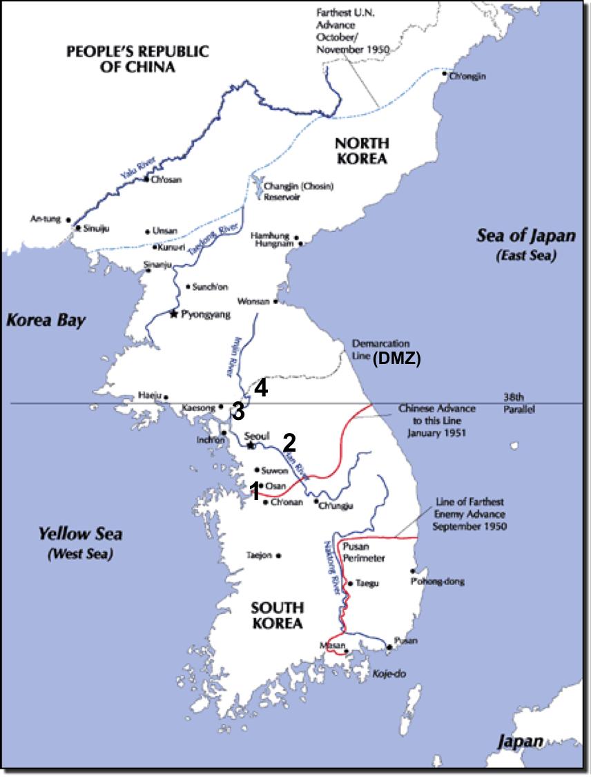 Chosin Reservoir North Korea Map