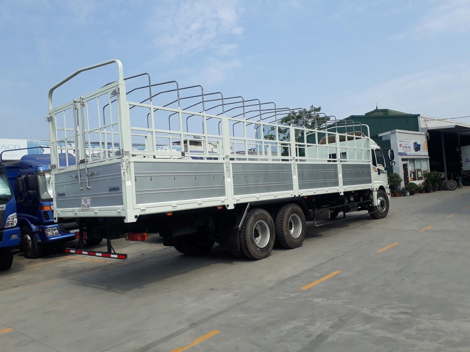 Kích thước xe tải 3 chân Thaco Auman AC1350  tại Hải Phòng