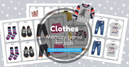 Clothes - Memory game for kids