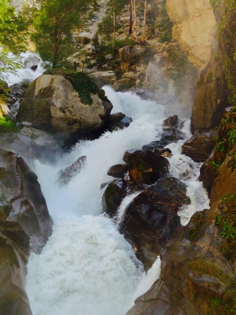 Gushing stream enroute