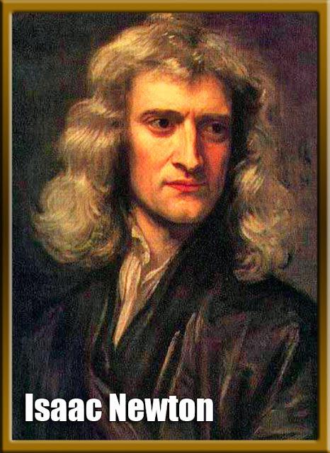 Gambar lukisan wajah Isaac Newton