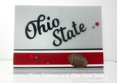 A Jillian Vance Design, Buckeye Football, Kecia Waters, Heart of Ohio Die Set