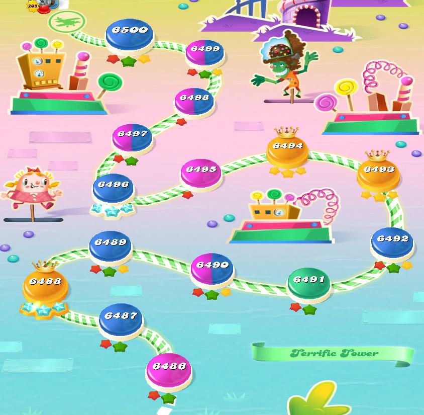 Candy Crush Saga level 6486-6500