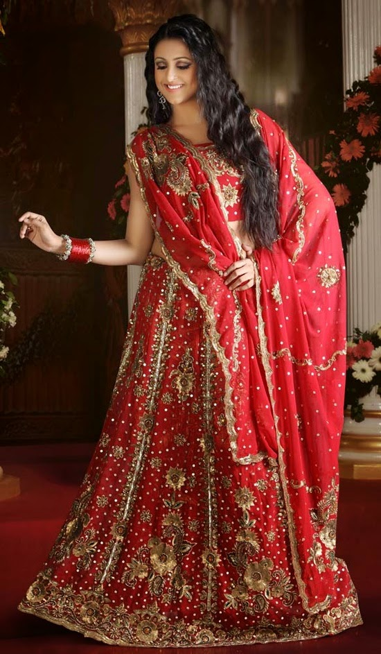 Girl In Punjabi Suit Wallpaper New Fashion Arrivals Latest Bridle Red Lehenga Collection