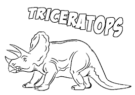 Triceratops Coloring Pages With Name
