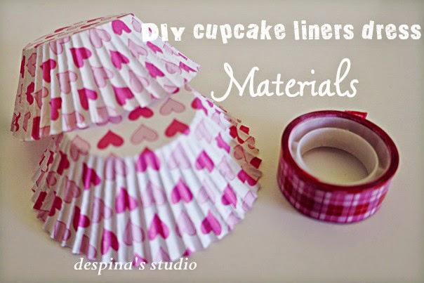 DIY cucpake liners dress materials