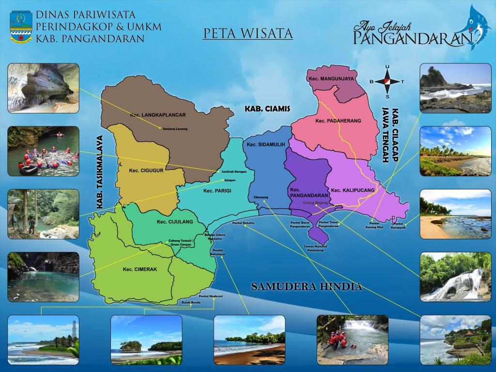Peta Wisata Pangandaran