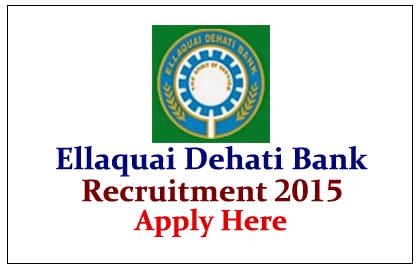 Ellaquai Dehati Bank Recruitment 2015