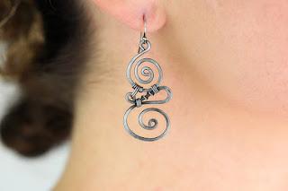 awesome eco-friendly 6th anniversary gift dirtyprettyartwear earring