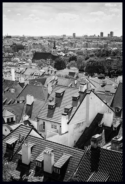 Looking out over Lesser Town from Prague Castle.