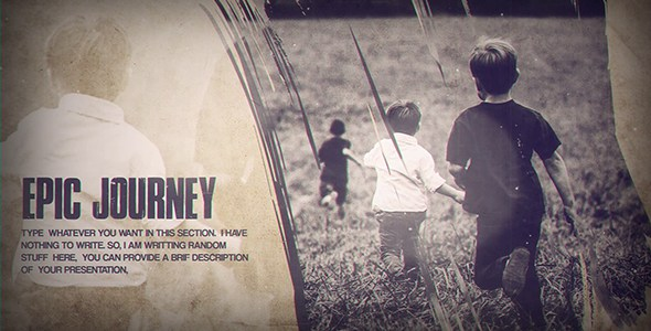 Vintage Memory Slideshow : After Effects Template