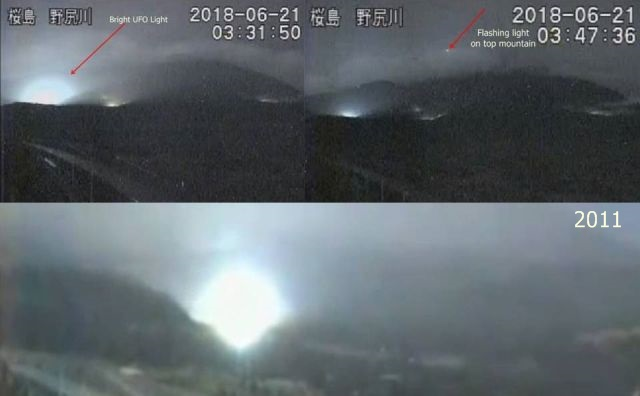 UFO News ~ UFO Lights Caught On Live Mt. Sakurajima Cam plus MORE UFO%2Blights%2BMt.%2BSakuranjima%2BJapan