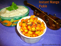 image for Instant Mango Pickle Recipe / A Quick Mango Pickle