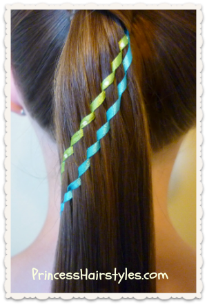 Double waterfall twist braid ponytail