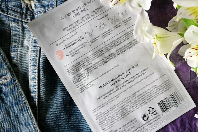 Missha Herb in Nude тканинна маска зі зволожуючим ефектом