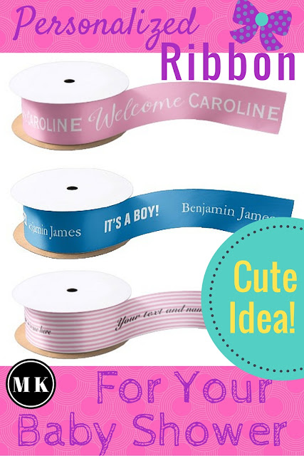 Personalized Ribbon for Your Baby Shower – Custom ribbons are such a cute idea as a decoration for your party. They are a great touch when used as the bow for your favor gift boxes, and your guests and the mommy-to-be will love how much thought and love you put into planning the shower. There are many different styles to personalize, but my favorites are the ones that allow you to put the baby's name or initials and date.