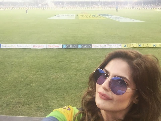 Zareen Khan at Dubai Cricket Stadium T10 League Photos