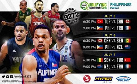 List of 2016 FIBA OQT - Philippines Game Schedules and Results