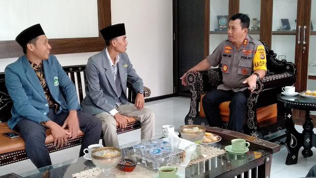 Bertemu Kapolda, IPNU NTB Komitmen Lawan Berita Hoax