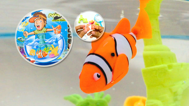 Nano robo fish, the best baby toy fish tank for your child