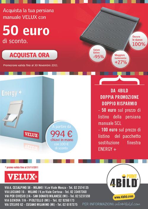 4bildcasa promozione velux doppia promozione doppio for Listino prezzi velux