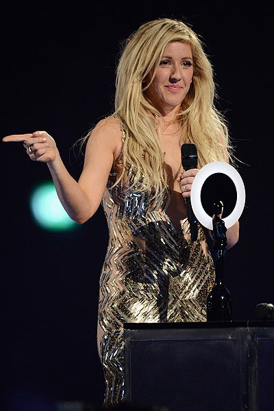 Ellie Goulding was the best in the category British performer of the year