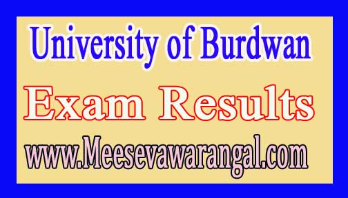 University of Burdwan B.A /B.Com Part-3 (Pass) 2016 Exam Results