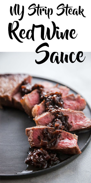 NY Strip Steak With Red Wine Sauce