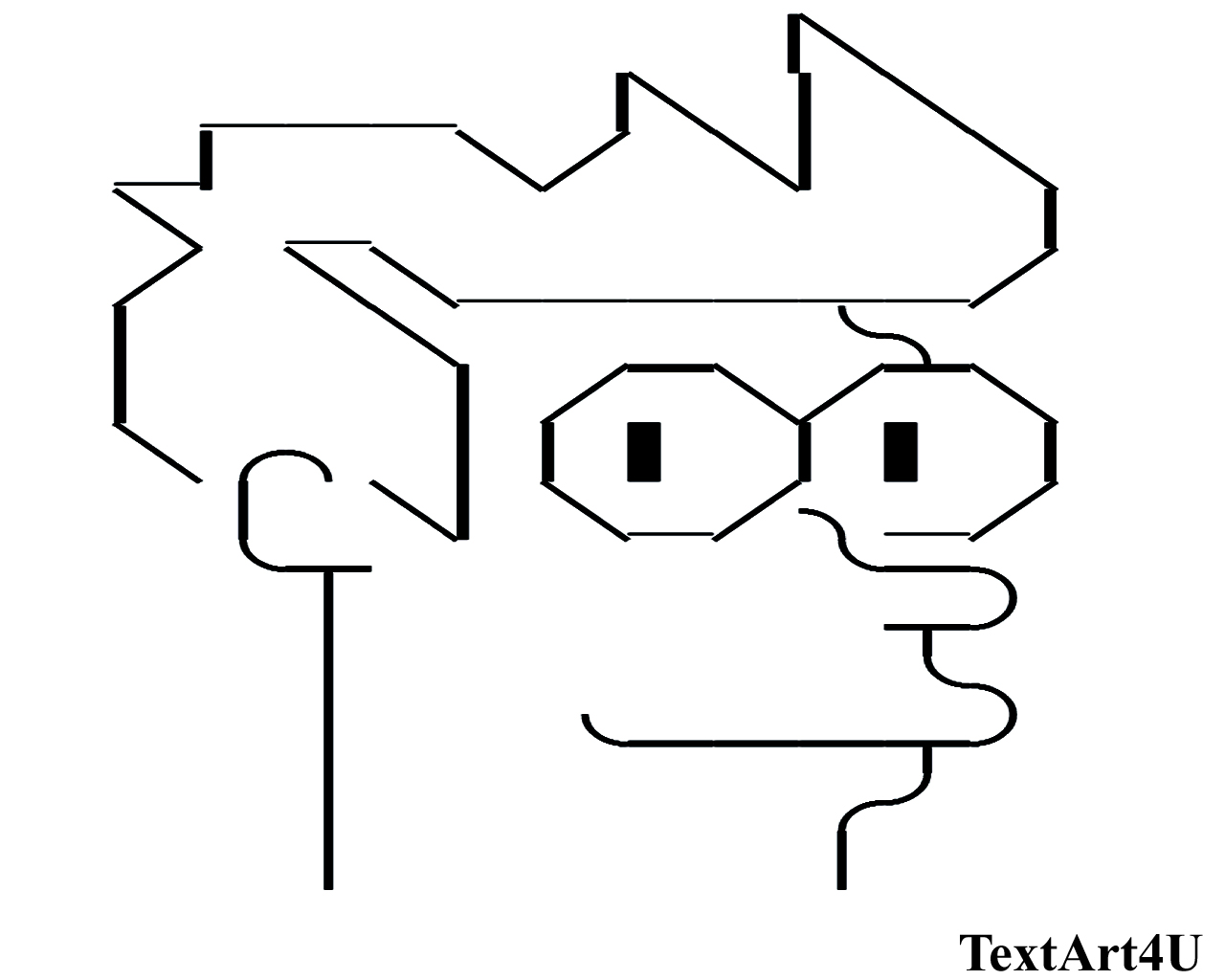 Philip J. Fry Unicode Text Art | ASCII Copy Paste Codes ...Text Art Symbols Copy And Paste