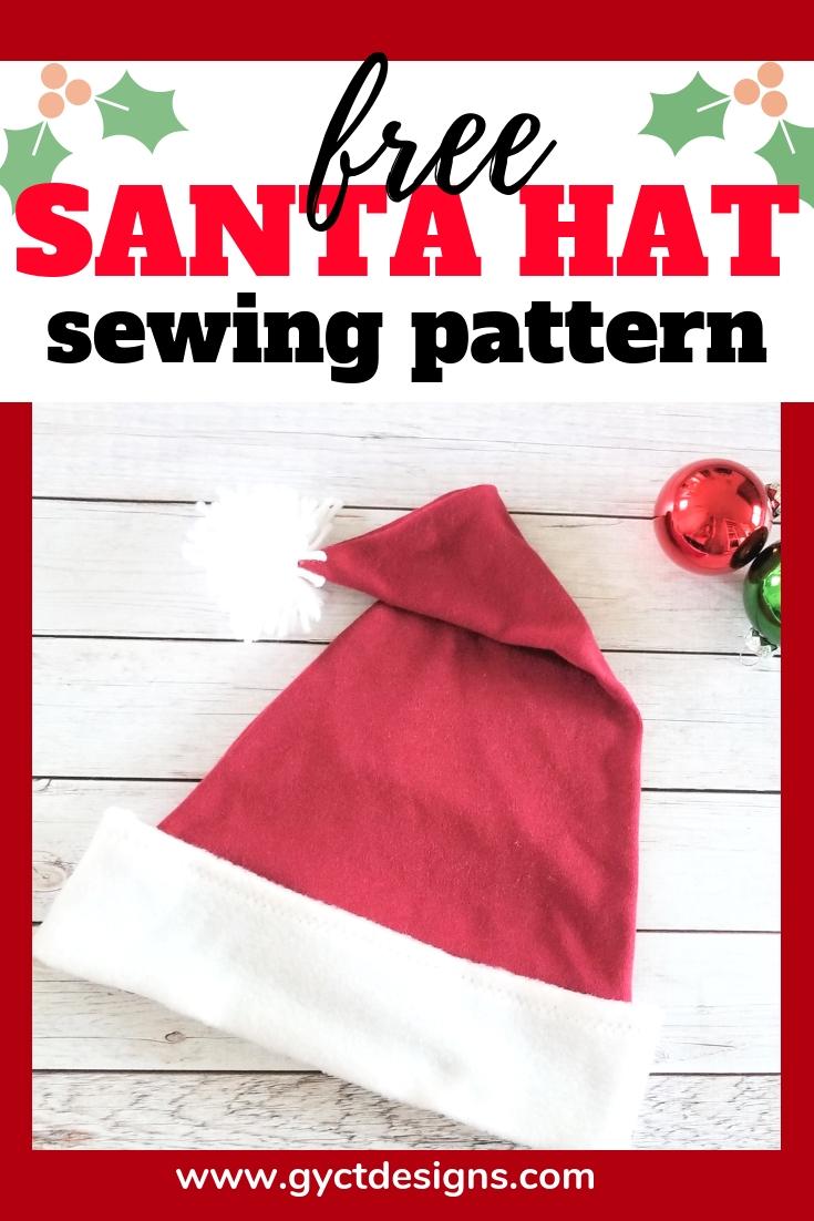Free Santa Hat Pattern - GYCT Designs 13bbec992a4