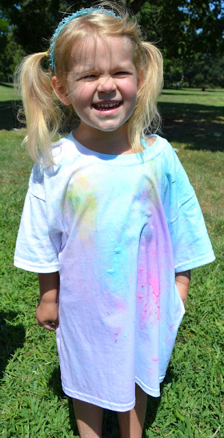 Have a paint war with paint filled water balloons- SUPER Summer FUN!