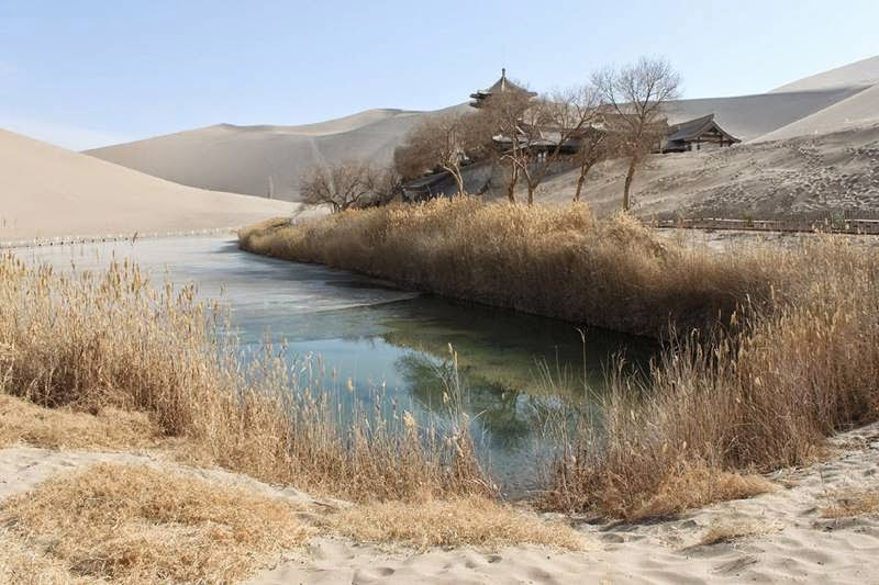 Lake Yueyaquan | Dunhuang Moon Shape Lake, China
