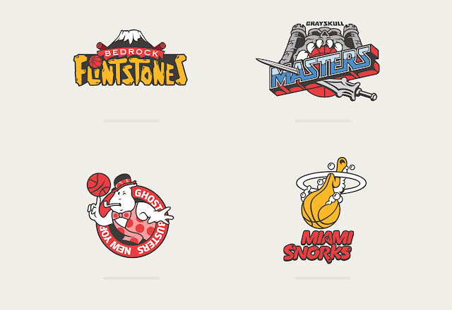Basketball Teams x 80's Toons by Vanila Lab ghostbusters